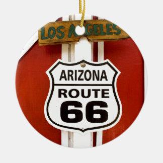 Route 66 Seligman Arizona de V.S. Rond Keramisch Ornament
