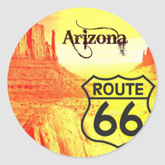 Route 66 van Arizona Ronde Sticker