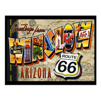 Route 66 van het briefkaart de Wijnoogst van