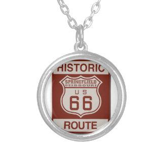 Route 66 van Springfield Zilver Vergulden Ketting