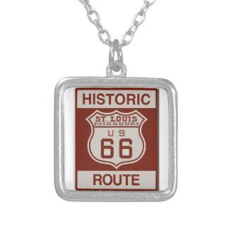 Route 66 van St.Louis Ketting Vierkant Hangertje