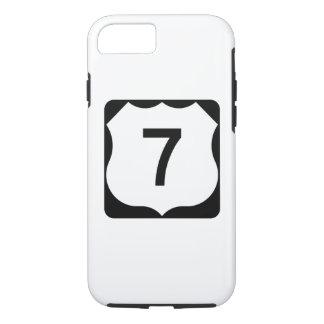 Route 7 van de V.S. Teken iPhone 8/7 Hoesje
