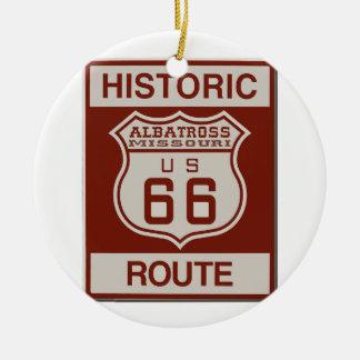 Route Zesenzestig van de albatros Rond Keramisch Ornament