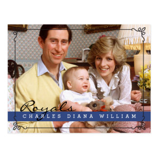 Royals Charles Diana en William Briefkaart