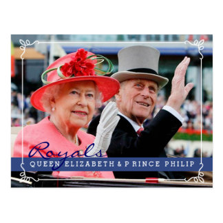 Royals Queeen Elizabeth & Prins Philip Briefkaart