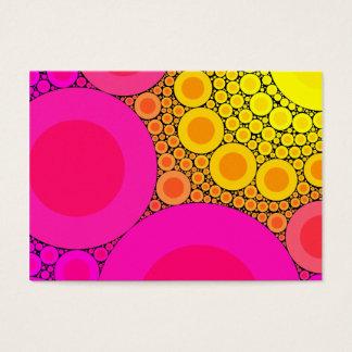 Roze aan het Gele Mozaïek van Cirkels Visitekaartjes