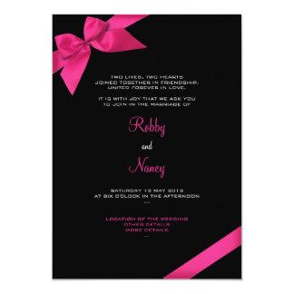 Roze Aankondiging 2 van het Huwelijk van het Lint