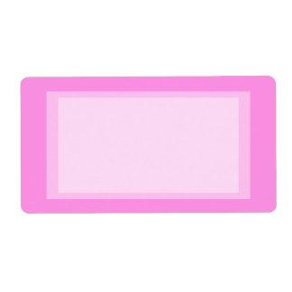 roze adres etiket