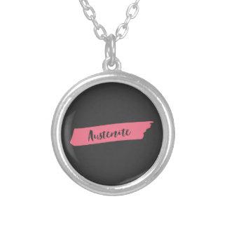 Roze Austenite van Jane Austen van de Borstel Zilver Vergulden Ketting