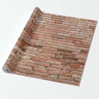 Roze bakstenen muur inpakpapier