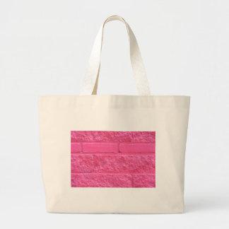 Roze Bakstenen muur Jumbo Draagtas