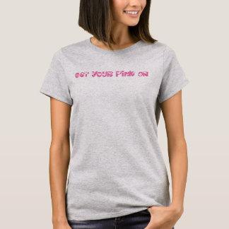 Roze bij het Aanmoedigen van het Overhemd van de T Shirt