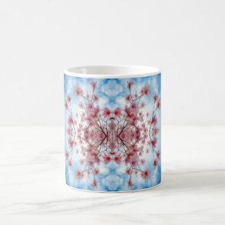 Roze Blauw Bloemen Decoratief Patroon Koffiemok