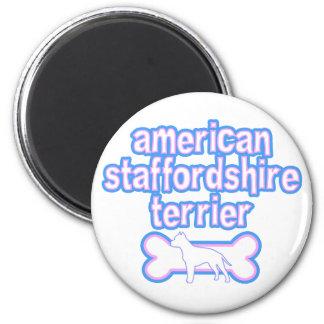 Roze & Blauwe Amerikaanse Staffordshire Terrier Magneet