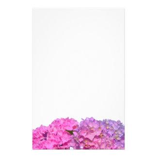 Roze & Blauwe Hydrangea hortensia's Briefpapier