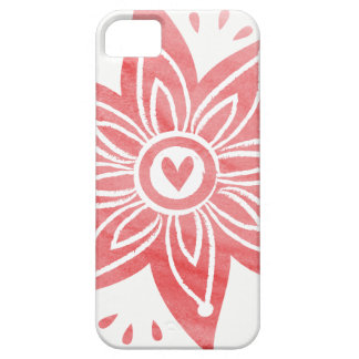 Roze Bloem Barely There iPhone 5 Hoesje