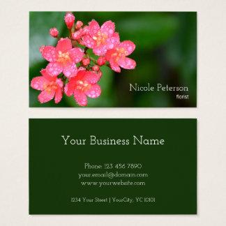 Roze bloem - bloemist visitekaartjes