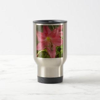 Roze Bloemen Botanisch van de Lelie van de Zomer Reisbeker