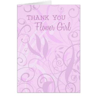 Roze Bloemen dankt u bloeit de Kaart van het