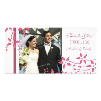 Roze Bloemen dankt u de Kaarten van de Foto van he