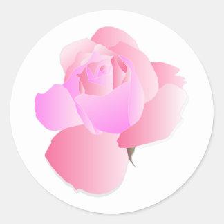 Roze Bloemen nam toe Ronde Sticker