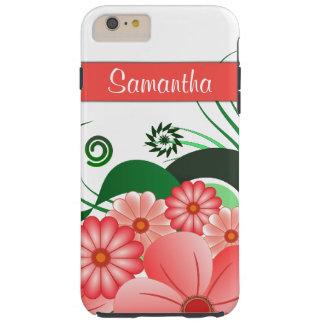 Roze Bloemen Taaie iPhone van de Hibiscus 6 6S Tough iPhone 6 Plus Hoesje