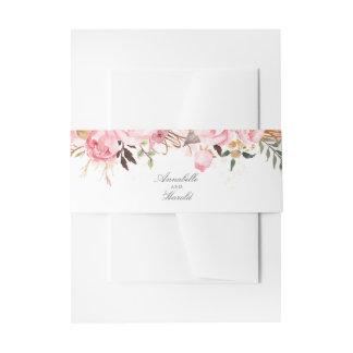 Roze Bloemen Uitnodigingen Wikkel