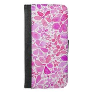 Roze BloemeniPhone 6 van de Bloem plus het Hoesje