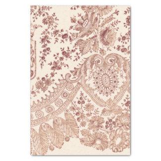 Roze BloemenKant met Rozen Tissuepapier