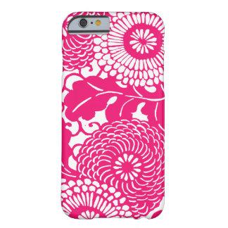 Roze bloemenpatroon barely there iPhone 6 hoesje