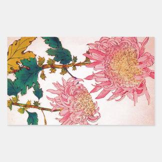 Roze BloemenStudie Mondrian Rechthoekige Sticker