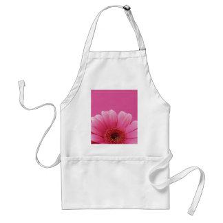Roze bloemschort standaard schort