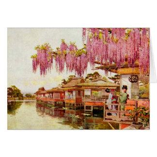 Roze Bloesems en Geisha's Kaart
