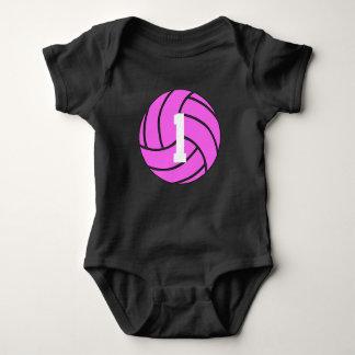 Roze Bodysuit van het Baby van het Aantal van