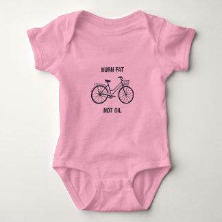 Roze bodysuit van het fietsbaby