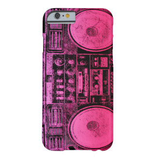 Roze boombox barely there iPhone 6 hoesje