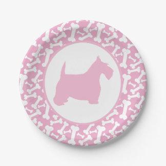Roze Bot Scottie en Buncha Papieren Bordje