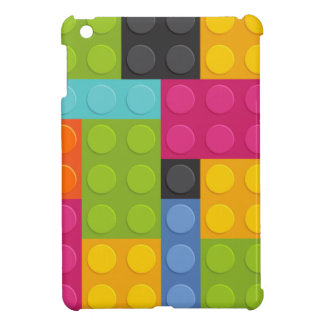 roze bouwstenen iPad mini cover