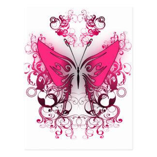 Roze Brand Briefkaart