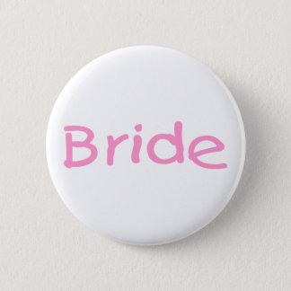(Roze) bruid Ronde Button 5,7 Cm