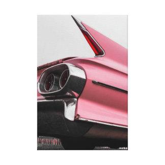 Roze Cadillac Canvas Print