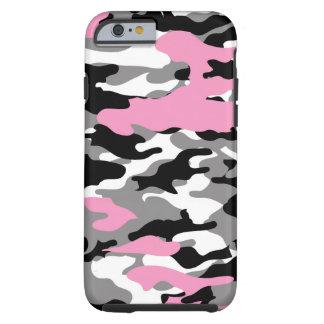 Roze Camo Tough iPhone 6 Hoesje