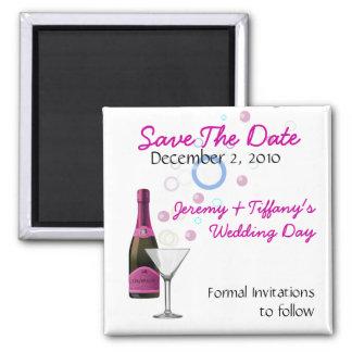 Roze Champagne en de Bellen bewaren de Magneet van