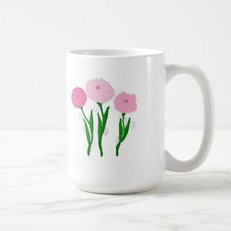 Roze Chrysanten Koffiemok