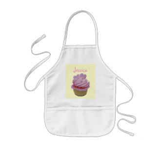 Roze Cupcake en Harten Kinder Schort