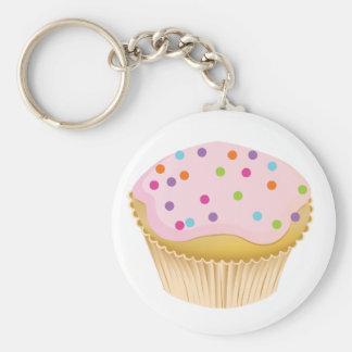 Roze Cupcake Sleutel Hanger