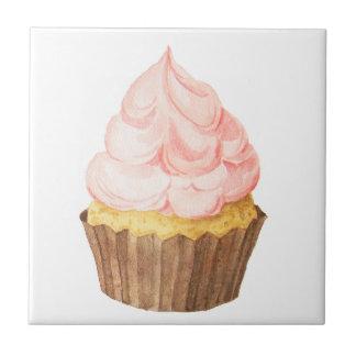 roze cupcake tegeltje