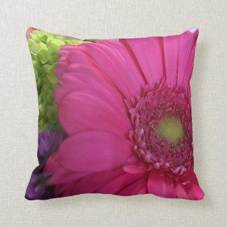 Roze Daisy Flower Throw Pillow Sierkussen