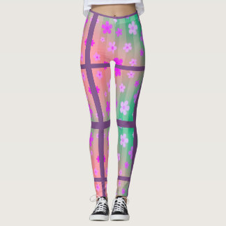 Roze Daisy Split Pattern Leggings