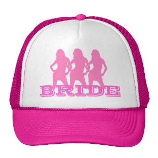 Roze dansende meisjes bruid trucker pet